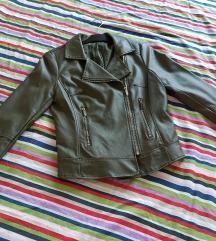Amadeus maslinasta kožna jakna
