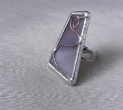 unikatni ljubicasti prsten