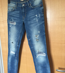 ZARA relaxed fit ripped jeans, XS