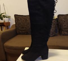 Asos crne čizme preko koljena