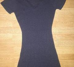 Novo pletena modra haljina