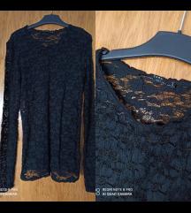 Zara crna majica-prozirna