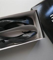 38 Mjus peep toe crne kožne cipele