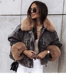 Traper jakna s umjetnim krznom