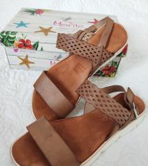 Marila kozne ravne sandale
