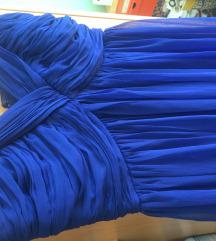 Haljina royal blue duga