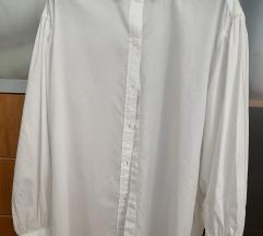 Bijela duga pamučna košulja