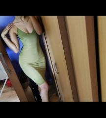 Zelena uska haljina
