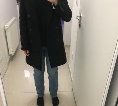 Zara crni vuneni kaput vel XS oversized