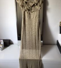 Zlatna svečana haljina placena 1000 kn