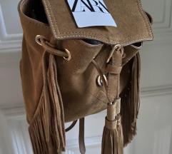 uklj.TISAK🎒Zara ruksak od brušene kože