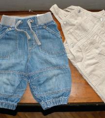 Markirani lot 3 hlača+prsluk za bebu dečka 68