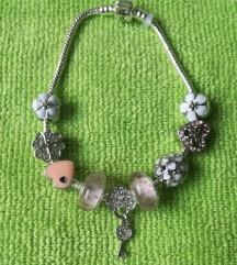 Pandora narukvica, roza 21 cm, nova