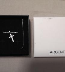 Argentum križ lančić poštarina uključena