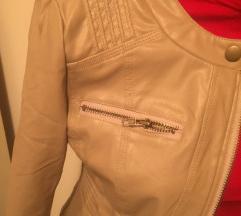 Krem strukirana jakna
