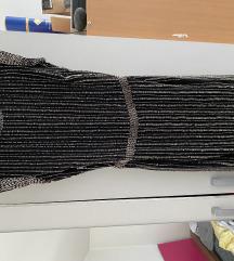 Mango crna haljina s perlicama otvorena leđa