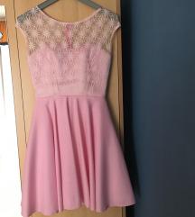 Roza kratka haljina