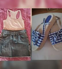 🌺Lot🌸Takko suknja, FB majica i sandale %SNIŽ%