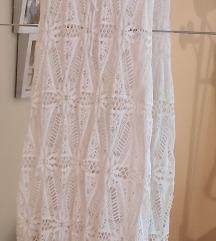 Bijela prozirna haljina za plažu