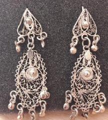 Filigranske srebrne nausnice