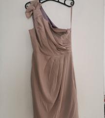 Bež kratka haljina
