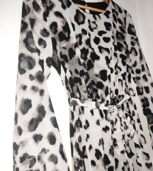 Crno-bijela haljina s leopard uzorkom