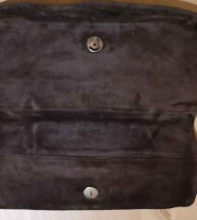 Vintage kožna torbica, brušena koža