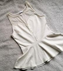 Bijela peplum majica