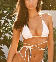Bijeli i crni bikini top S