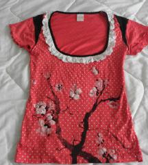 crvena goth majica