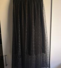 Crna suknja od tila