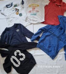 Lot majice/hudice 110-116