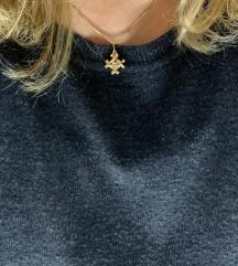dijamantna ogrlica neobični križ, 18K