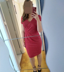 svečana crvena haljina sa šljokicama