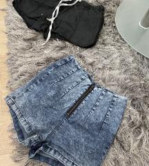 Traper hlačice visok struk + gratis kožne hlačice