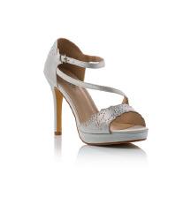 Bijele svečane sandale