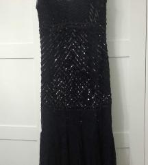 Haljina Charleston stil od svile sa šljokicama