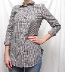 Duga karirana košulja - materijal koji se ne gužva