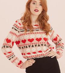Vero Moda bozicni pulover. NOVO s etiketom!