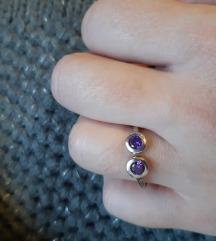Lana&love prsten s ametistima u originalnoj kutiji