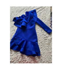 Royal blue scuba haljina