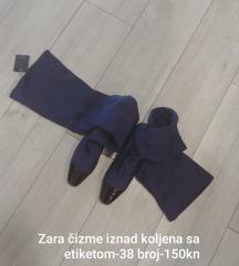 Zara čizme iznad koljena sa etiketom
