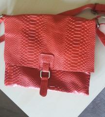 kožna crvena kroko torba