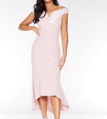 Svečana krem roza haljina