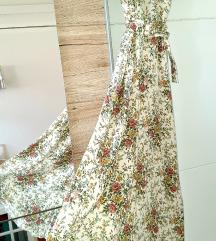 Zara flower haljina s pojasom limited edition M