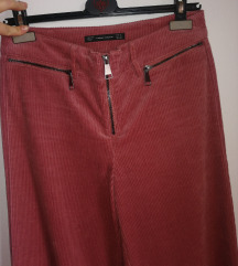 Zara samt roze hlače