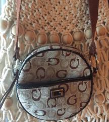 GUESS original okrugla mala  logo torbica