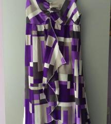 Svilena haljina s volanima