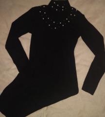 Crna uska midi haljina