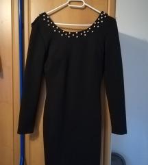 Crna haljina s biserima